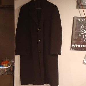 PRAGUE Men Cashmere & Wool Long Dress Coat 42L